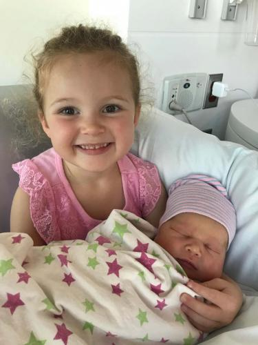 Emery Alena with her big sister