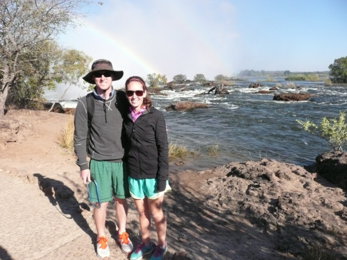Dr. Mark and Madeline at Victoria Falls, Zambia (2014)